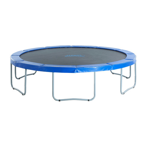 Upper Bounce 14 FT Jumping Trampoline Enclosure Set With Jumping Mats, Safety Frame pad