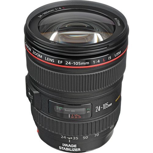 Canon EF 24-105mm f/4 L IS USM Lens for Canon EOS SLR Cameras [Standard Packaging]