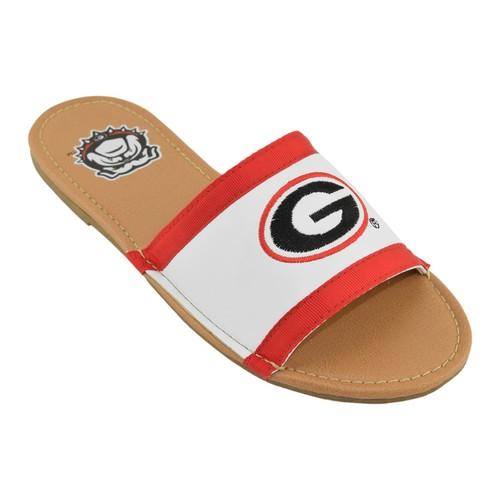 NCAA Women's Slide Sandal - University of Georgia Bulldogs