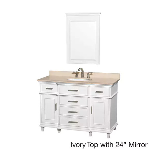 Wyndham Collection Berkeley White 48-inch Single Vanity [option : White 48