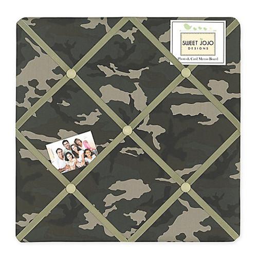 Sweet Jojo Designs Camo Fabric Memo Board in Green