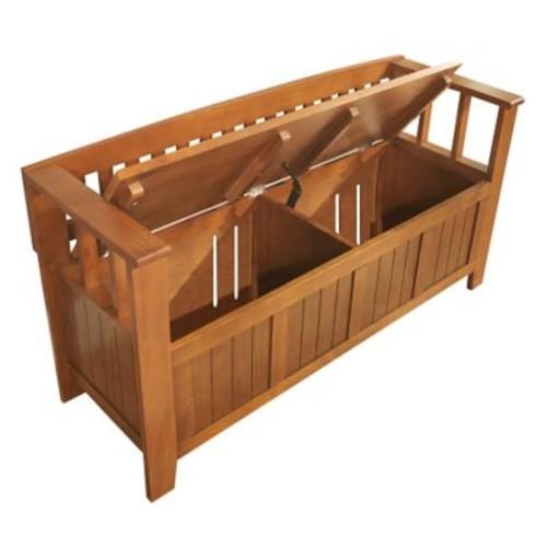 Simpli Home Acadian Soild Wood Entryway Storage Benches