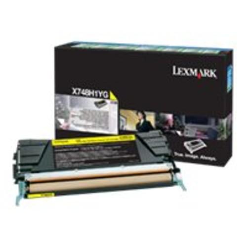 Lexmark Toner Cartridge - Yellow - Lexmark - X748H1YG