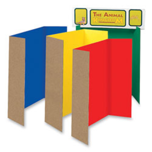 Pacon 80% Recycled Single-Walled Tri-Fold Presentation Boards, 48