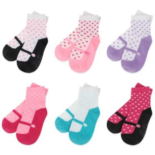 Capelli New York Size 3-12M 6-Pack Mary Jane Socks