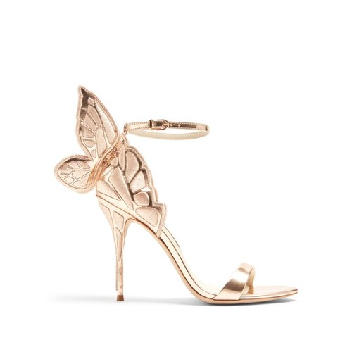 Chiara butterfly-wing leather sandals