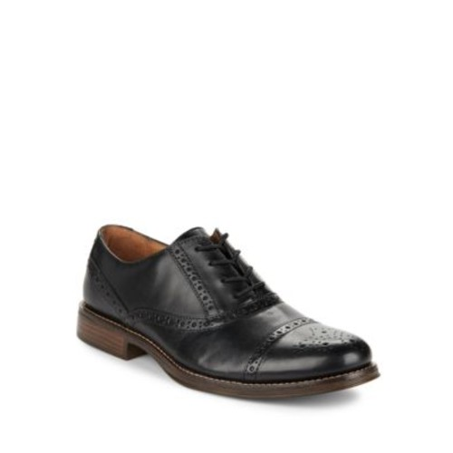 Woolfe Perforated Cap-Toe Leather Oxfords