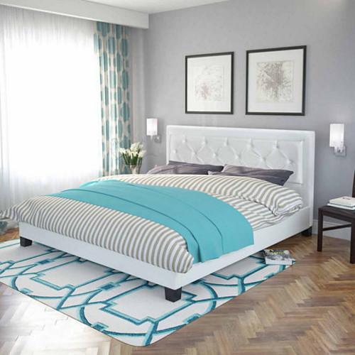San Antonio Button Tufted Leatherette Bed