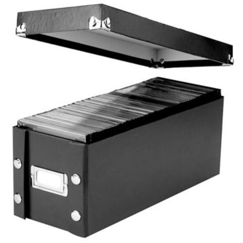 Snap-N-Store CD Media Storage Box, Black