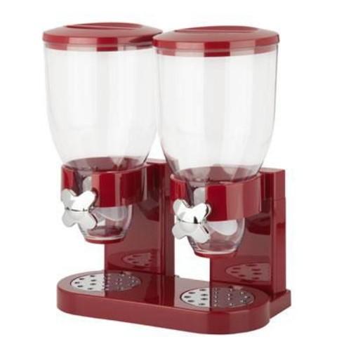 Honey Can Do The Original Indispensable 17.5 oz. Double Dispenser, Red/Chrome (KCH-06125)