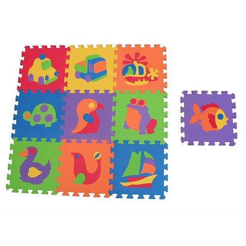 Edushape EduTile Puzzle, 10 Piece Set [Shaped;]