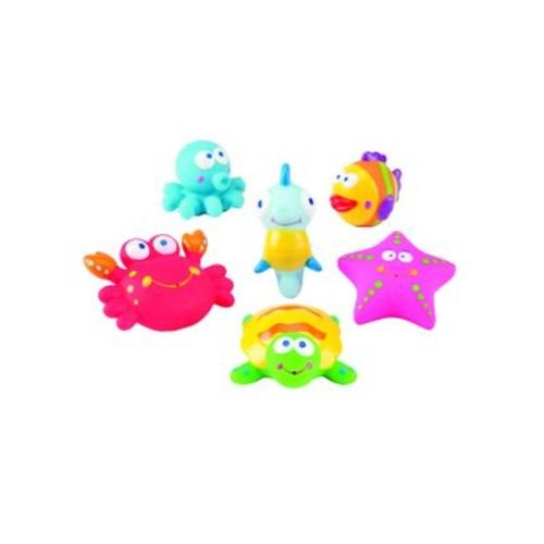 Six-Piece Lagoon Party Squirties Bath Toys