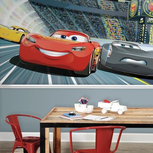 RoomMates 72 in. x 126 in. Disney Pixar Cars 3 XL Chair Rail 7-Panel Prepasted Mural