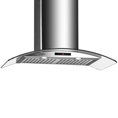 Ancona 36 in. 500 CFM Convertible Wall-Mounted Range Hood with LED Lights in Stainless Steel