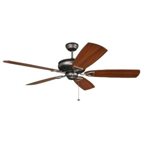 Supreme Air 56 Inch Ceiling Fan [Fan Body and Blade Finish : Distressed Antique Nickel with Teak and Birch]