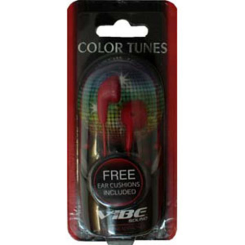 Vibe VS-120 Red Stereo Earbuds