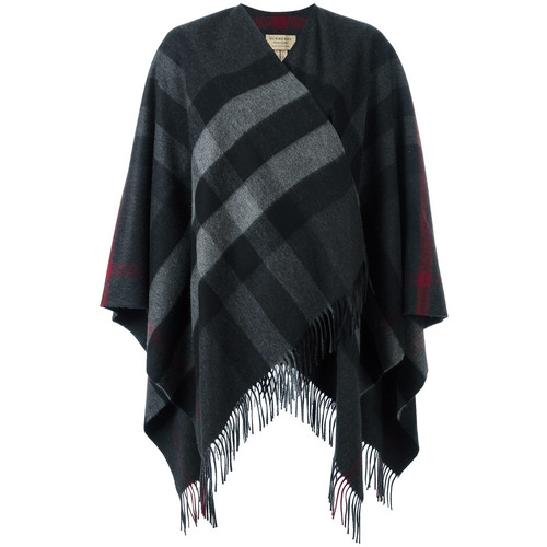 BURBERRY Fringed Knitted Poncho
