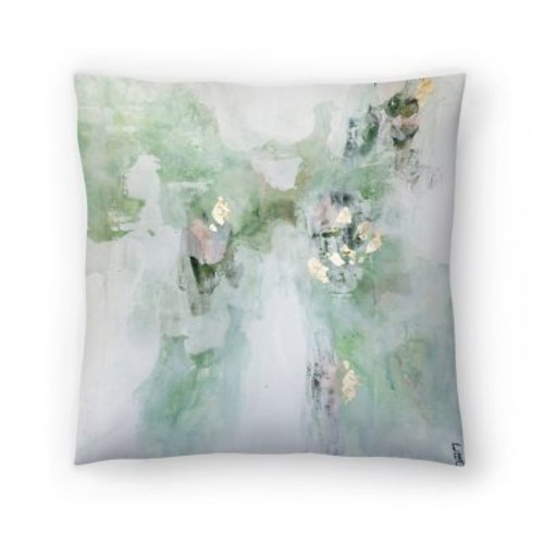East Urban Home Christine Olmstead Leaf It Alone Throw Pillow; 14'' x 14''