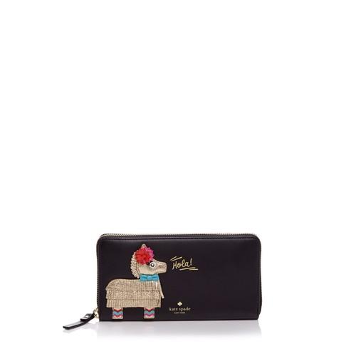 KATE SPADE NEW YORK Haute Stuff Lacey Piñata Appliqué Leather Wallet