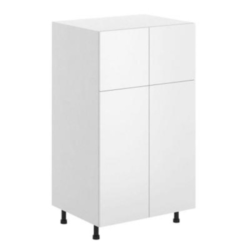 Fabritec Alexandria Ready to Assemble 30 x 49 x 24.5 in. Pantry/Utility Cabinet in White Melamine and Door in White