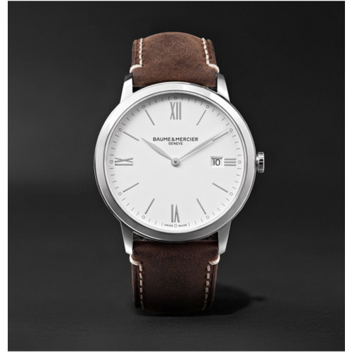 Baume & Mercier - My Classima 40mm Stainless Steel and Leather Watch