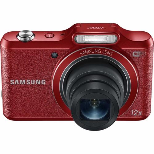 Samsung EC-WB50FZBPRUS 16.2-Megapixel Compact Smart Digital Camera - Red