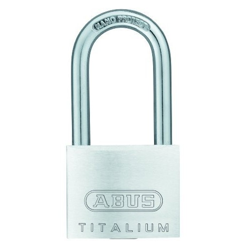 ABUS 64TI/40HB40 C KD Titalium Aluminum Alloy Keyed Different Padlock 1-1/2-Inch with 1/4-Inch Diameter Nano Protect Steel Shackle