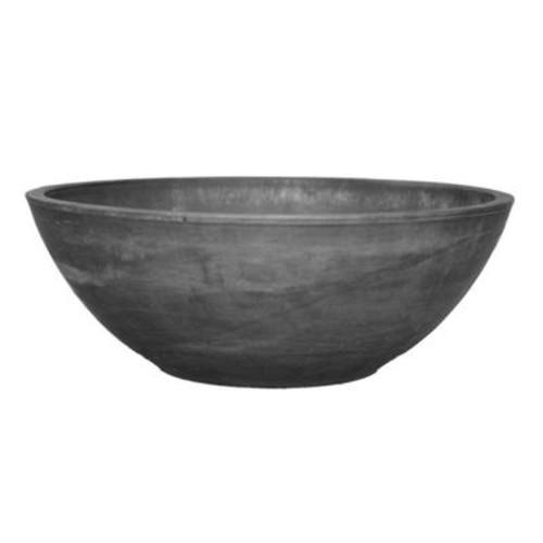 Arcadia Garden Products Garden Bowl 12 in. x 4-1/2 in. Dark Charcoal PSW Pot
