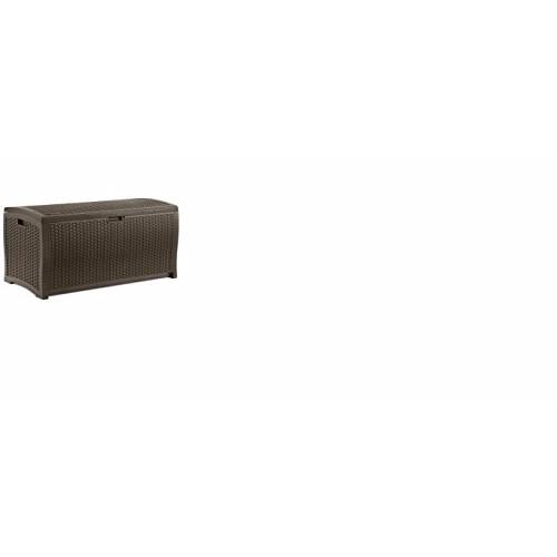 Suncast DBW9200 Mocha Resin Wicker Deck Box, 99-Gallon [Java]
