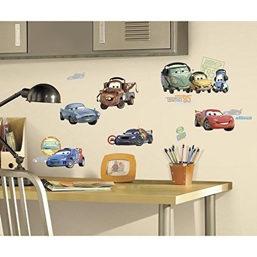 Roommates Rmk1583Scs Disney Pixar Cars 2 Peel & Stick Wall Decals