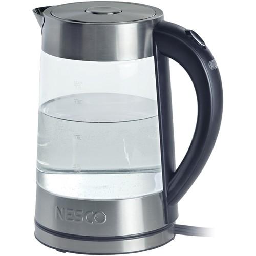 Nesco(R) GWK-02 1.8-Liter Electric Glass Water Kettle