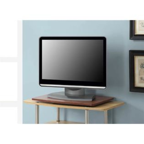 Convenience Concepts Single Tier Swivel TV-Monitor Stand in Cherry Finish