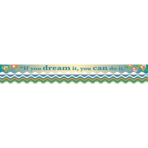 Barker Creek Splash of Color You Can Do It Double-Sided Scalloped Edge Border, 39 feet of 2-1/4