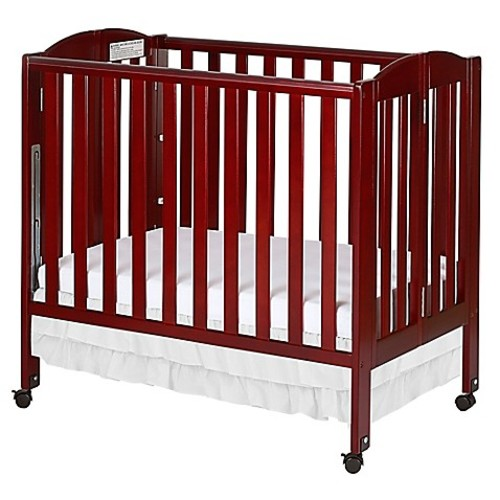 Dream On Me 3-in-1 Folding Portable Crib in Cherry