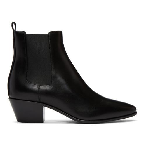 SAINT LAURENT Black Rock Chelsea Boots