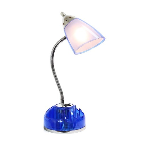 LimeLights Flossy Iron and Plastic Organizer Desk Lamp