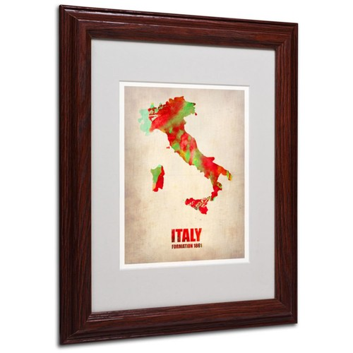 Trademark Fine Art 'Italy Watercolor Map' 11