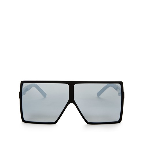 SAINT LAURENT Mirrored Oversized Shield Sunglasses, 69Mm