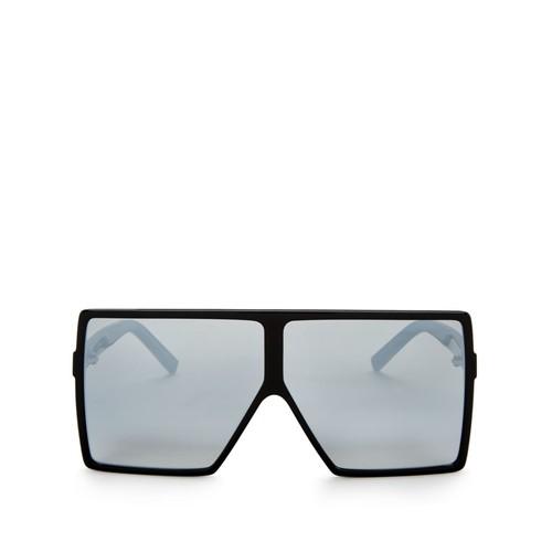 SAINT LAURENT Mirrored Oversized Shield Sunglasses, 69Mm