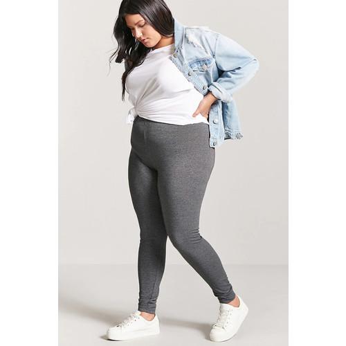 Plus Size Heathered Leggings