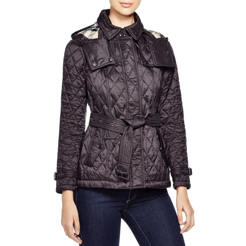 BURBERRY Short Finsbridge Quilted Coat
