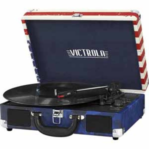 Victrola Bluetooth Stereo Turntable - USA flag