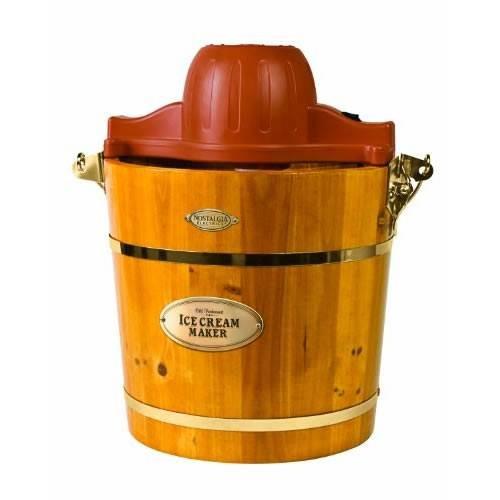 4 Quart Wooded Bucket Ice Cream Maker