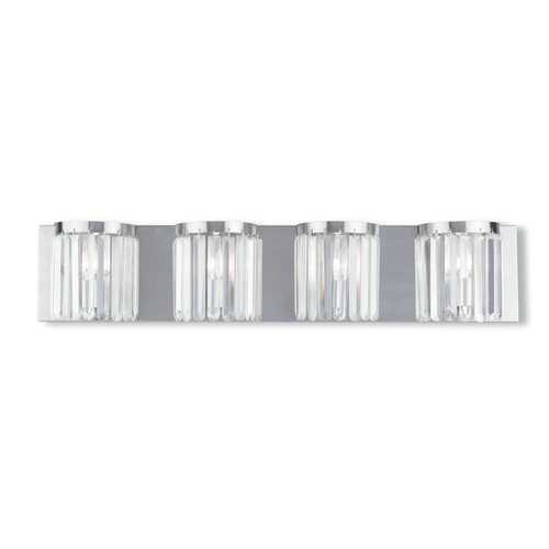 Livex Lighting Ashton Brushed Nickel 4-light Bath Vanity
