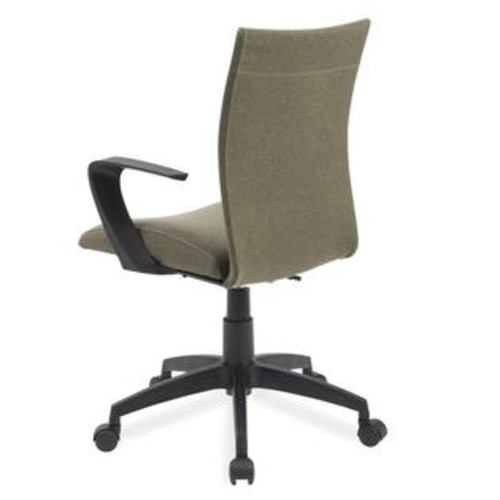 Leick Furniture Leick Apostrophe Linen Office Chair in Sage Green