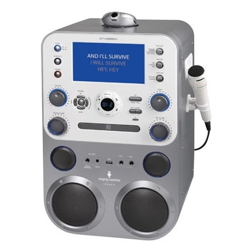 THE SINGING MACHINE STVG888 CD+G/MP3/CD/MP3+G Karaoke Player with Bluetooth (R)