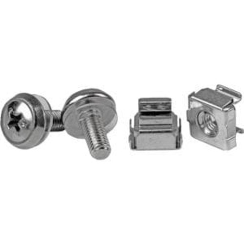 StarTech.com M5 Mounting Screws and Cage Nuts for Server Rack Cabinet (Pack of 50)