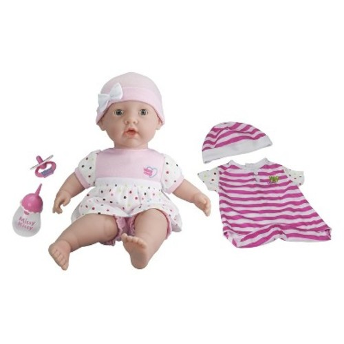 JC Toys Amazing Interactive Missy Kissy Giggle Time Play Doll - Plays the Tickle Game, Sings, Feeds, Burps with Real Moving Eyes and Head.