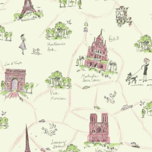 York Wallcoverings Waverly Kids Tres Chic Wallpaper