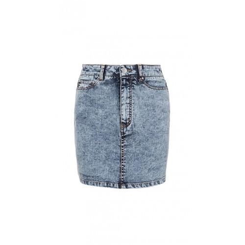 TIBI Acid Wash Mini Skirt